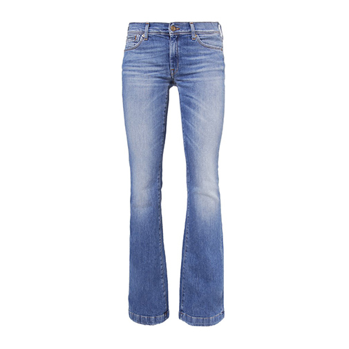 CHARLIZE - jeansy bootcut - 7 for all mankind - kolor niebieski