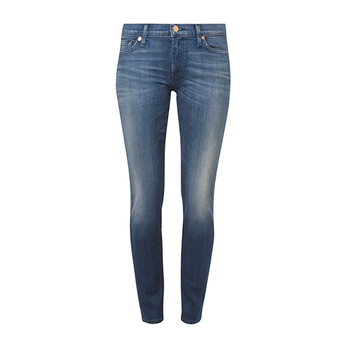 THE SKINNY - jeansy slim fit - 7 for all mankind - kolor niebieski