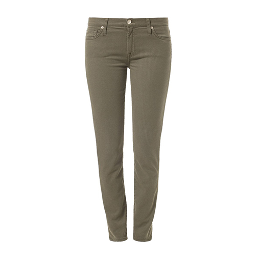 THE SKINNY - jeansy slim fit - 7 for all mankind - kolor ciemnozielony